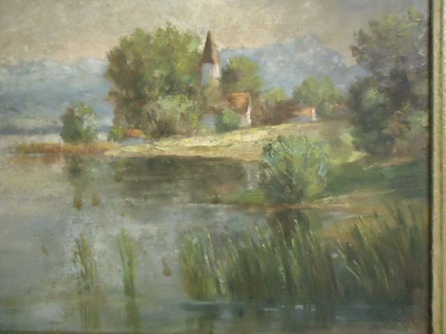 287: Oil on Canvas Painting Signed Felix Kiby - 3