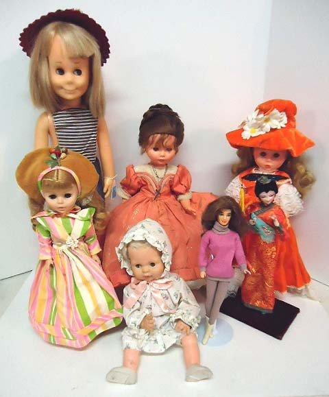 1: Lot of Seven Dolls
