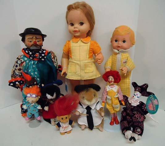 3: Lot of Nine Dolls