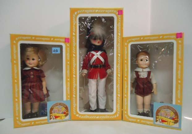 22: 3 Effanbee Dolls: Freddie 1201, Floosie 1202, Parad