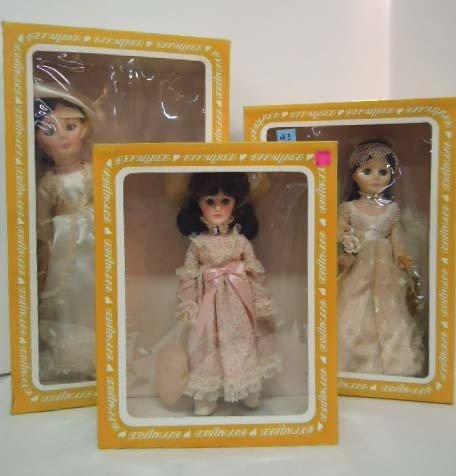 23: 3 Effanbee Dolls: Unmarked Bride 1512, Unmarked Bri