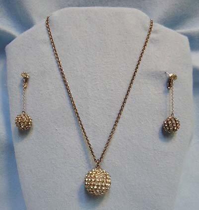 3: Rhinestone Disco Ball Jewelry Set