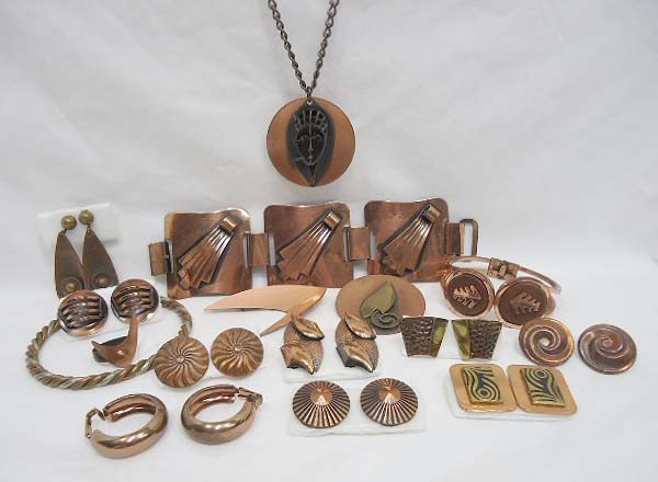 11: Copper Costume Jewelry Lot