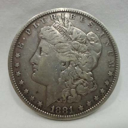 17: 1881 Morgan Silver Dollar