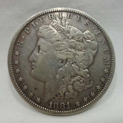 17: 1881 Morgan Silver Dollar
