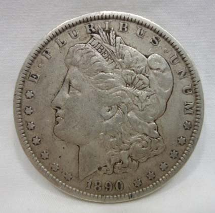 18: 1890 Morgan Silver Dollar