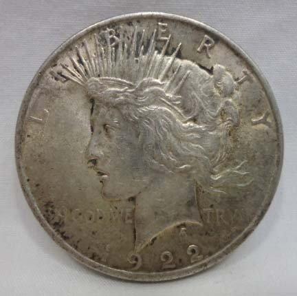 20: 1922 Peace Silver Dollar