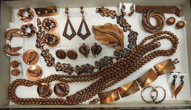 21: Lot of Copper Costume Jewelry