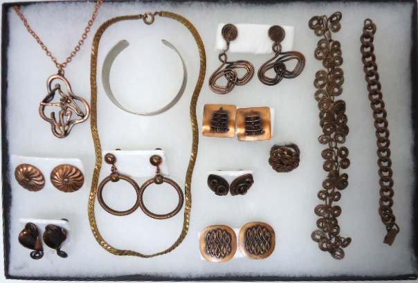 22: Lot of Copper Costume Jewelry