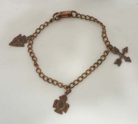 24: 14 Pc. Copper Indian Theme Jewelry - 6