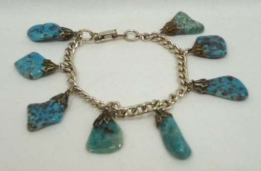 75: 8 Pc. Turquoise Jewelry Lot - 9