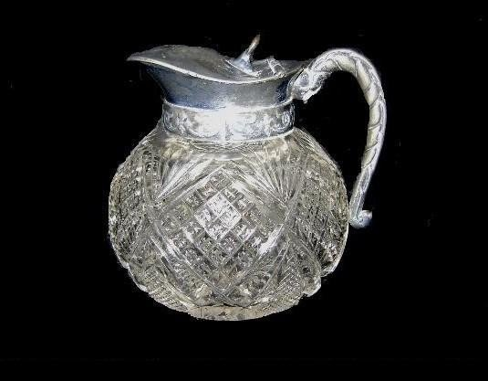 5: Victorian Cut Glass Syrup Pitcher