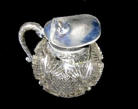 5: Victorian Cut Glass Syrup Pitcher  - 5