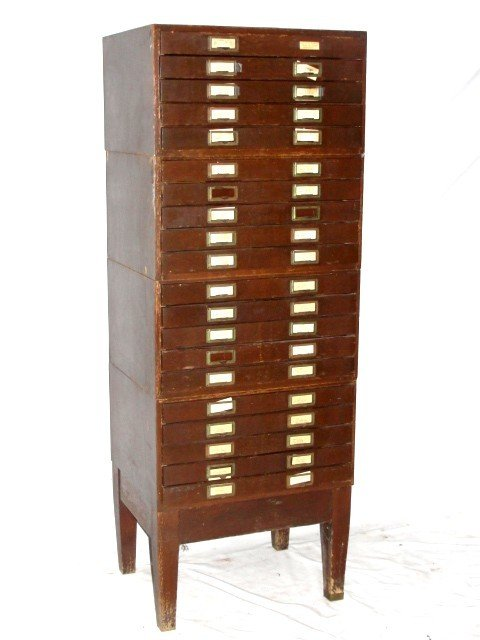 21: Multi Drawer Stacking Collectors Cabinet