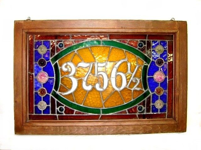Vic't Leaded & Stained Glass Address Window