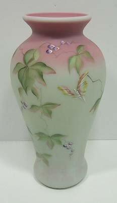 53: Fenton Lotus Mist Bermese Vase