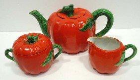 Occupied Japan Pumpkin Tea Set