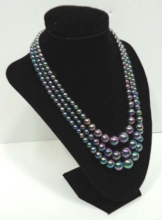 23: Vintage Iridescent Bead Necklace