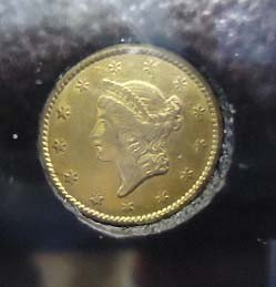 28: 1851 $1 Gold Coin EF-45