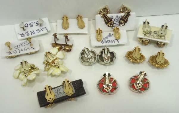 98: 12pr Vintage Lisner Earrings - 2