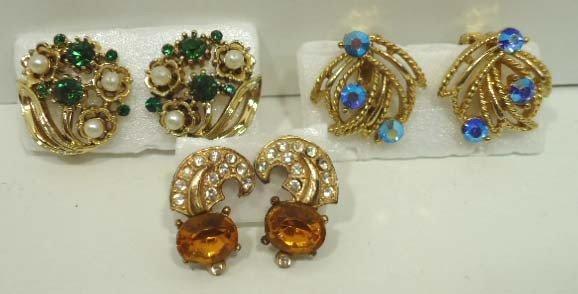 98: 12pr Vintage Lisner Earrings - 4