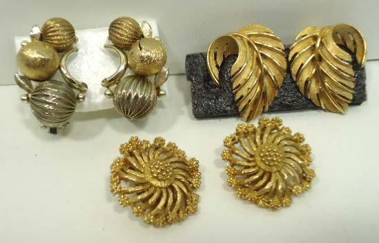 98: 12pr Vintage Lisner Earrings - 5