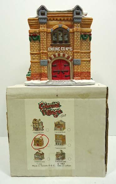 240: Lefton Colonial Village Lighted Firehouse - 2