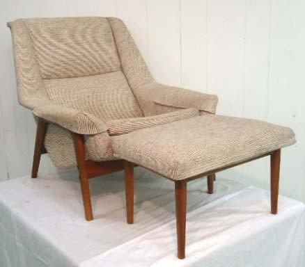 21: Dux Mid Century Chair & Footstool