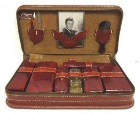 4: Leather Bakelite Travel Kit W/ Case