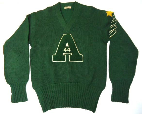 10: 1944 Wool College Leather Sweater
