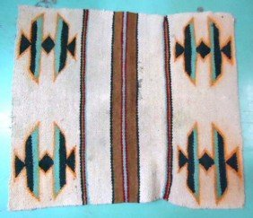 12: Hand Woven Amer. Indian Rug