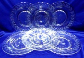14: 6 Cut Glasss Plates