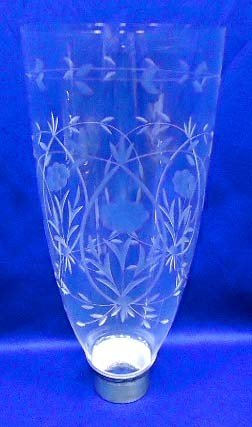 15: Cut Glass Hurricane Lamp Shade