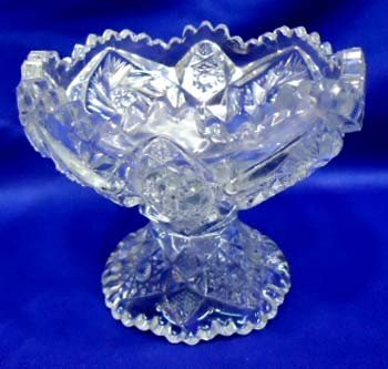 7: Pressed Glass Compote