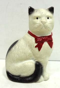 16: Old Cast Iron Cat Bank