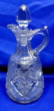 18: Pressed Glass Cruet