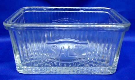 21: Glass Embossed Salt box
