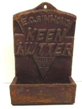 151: Cast Iron Keen Kutter Hanging Match Safe