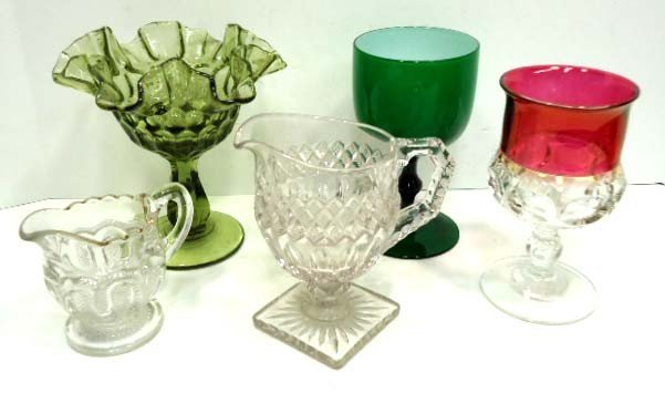 163: 5 Pc. Misc. Glass