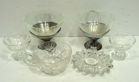 164: 6 Pc. Misc Glass