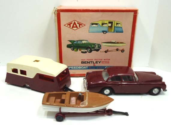 3: Tat Friction Motor Bentley,Speed Boat/Trailer & Camp