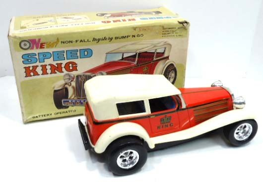 4: Speed King Tin Litho Battery Op. Car
