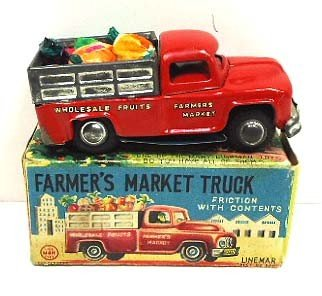6: Line Mar Tin Litho Farmer's Market Truck