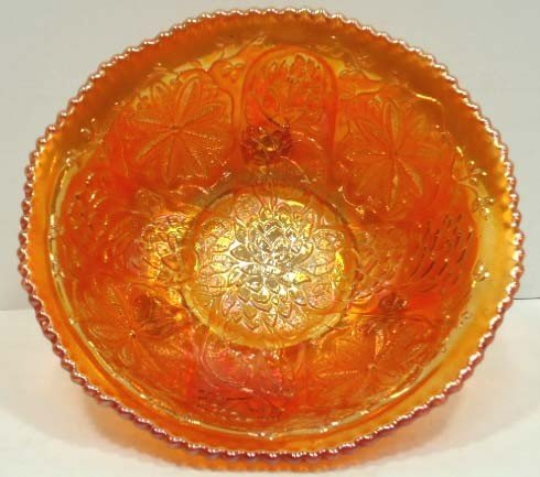 5: Footed Carnival Glass Bowl