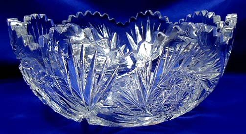 13: American Brilliant Cut Glass Bowl