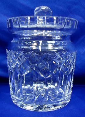 16: Signed Waterford Cut Glass Cracker Jar