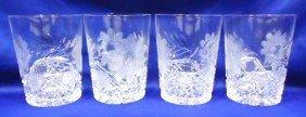 4 Cut Glass Tumblers
