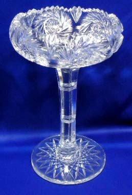 50: American Brilliant Cut Glass Compote