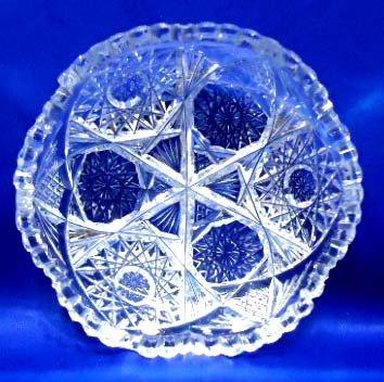 51: American Brilliant Cut Glass Dish