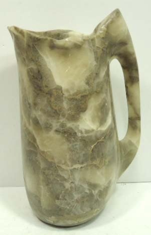 155: Carved Soapstone Pitcher